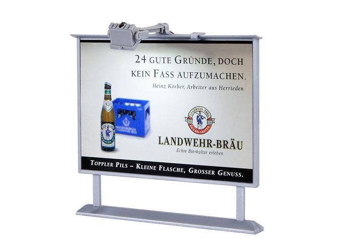 Panneau d' affichage avec éclairage LED HO - Viessmann 6336