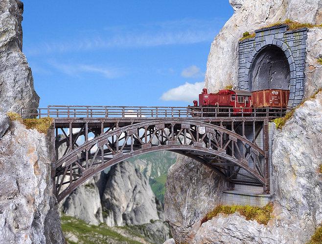 pont en arc droit HO - Vollmer 42548