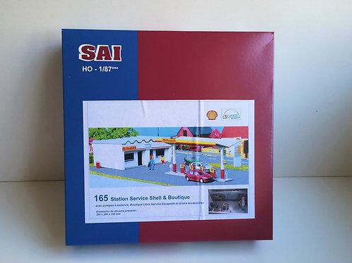 SAI collections réf 0165 Station-service Shell HO