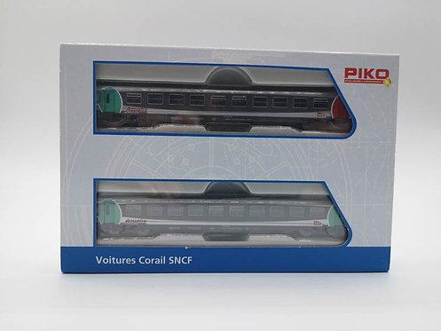 Coffret voitures voyageurs corail SNCF - Piko 94304 échelle N