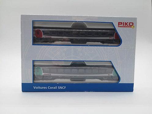 Coffret voitures voyageurs corail SNCF - Piko 94302 échelle N