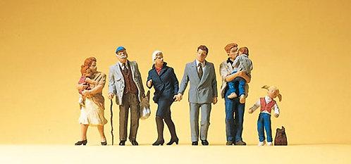 Preiser 10415 Figurines, passants et enfants HO