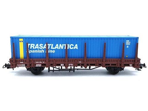 """Wagon porte container """"TRASATLANTICA"""" - Electrotren 1551K HO"""