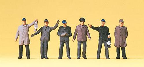 Preiser 14018 Figurines, personnels de gare HO