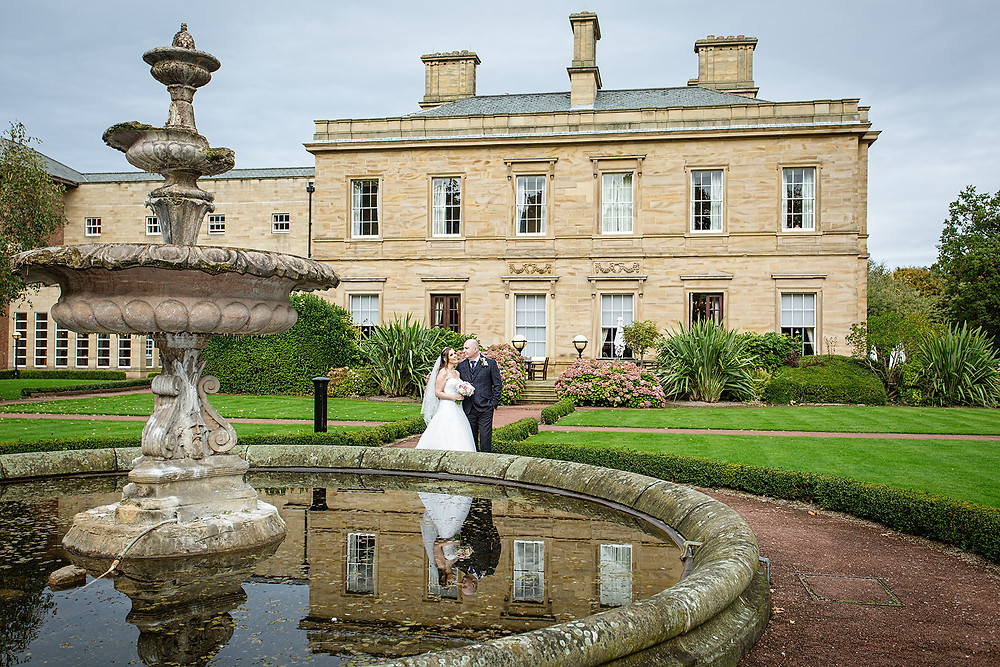 Bride & Groom Wedding Day Photography Portraits at Oulton Hall Hotel & Spa  Leeds West Yorkshire
