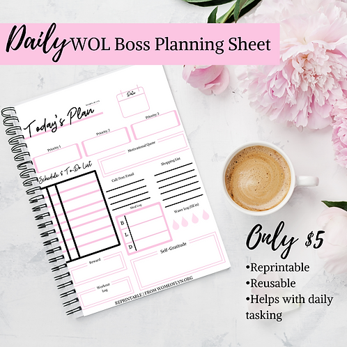 Daily WOL Boss Planning Sheet (Reprintable and reusable)
