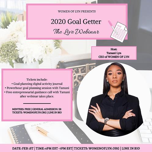 2020 Goal Getter: The Live Webinar