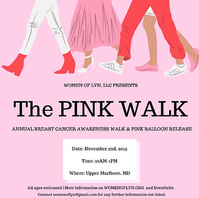 The PINK WALK RSVP Fee/Donation