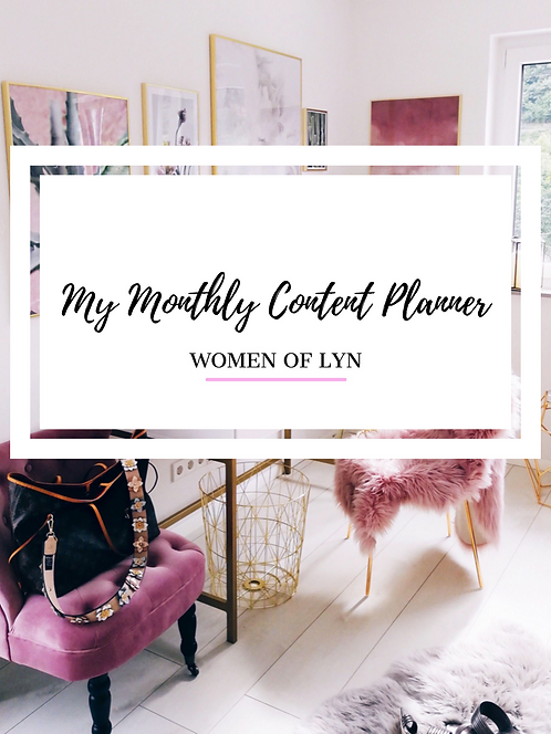 Printable WOL Monthly Content Planner
