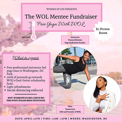 FREE Yoga With WOL (WOL Mentee Fundraiser)