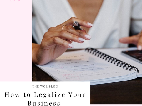 How To Legalize Your Business By Alyssa Caggiano