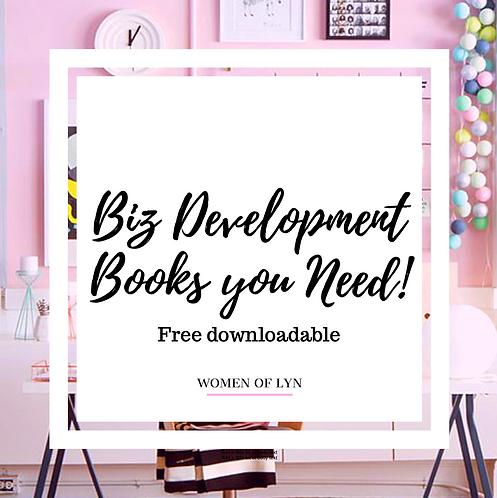 Free Downloadable- Biz Development Books You Need