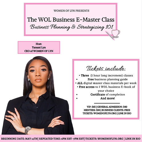 The WOL Business E-Master Class: Business Planning & Strategizing 101