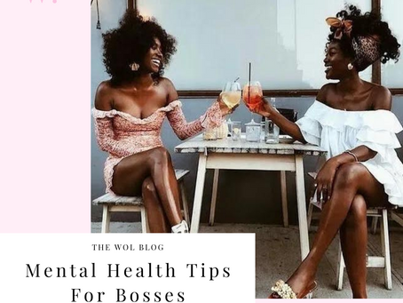 Mental Health Tips For Bosses By Alexis Davis