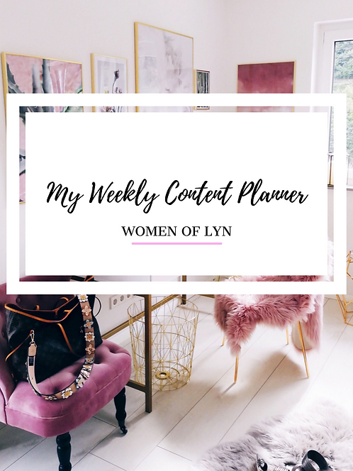 Printable WOL Weekly Content Planner