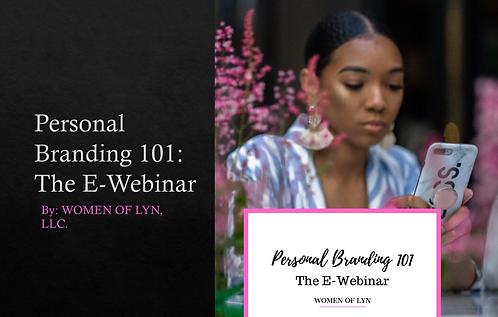 Personal Branding 101: The E-Webinar