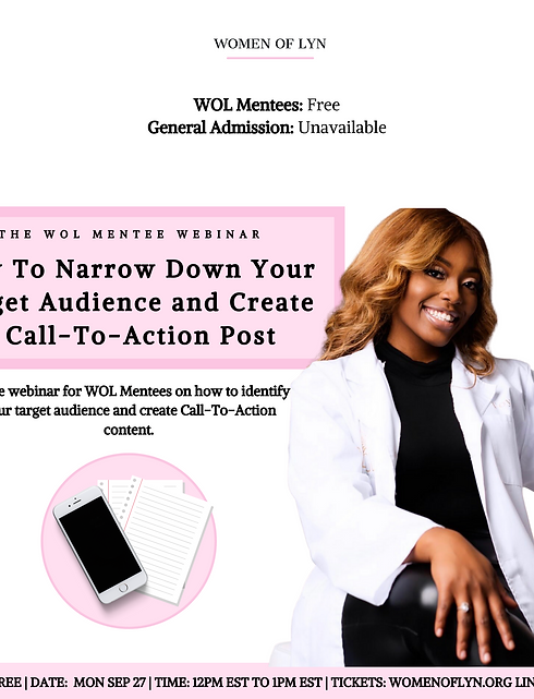 How To Narrow Down Your Audience and Create a CTA Post with Toya Messam