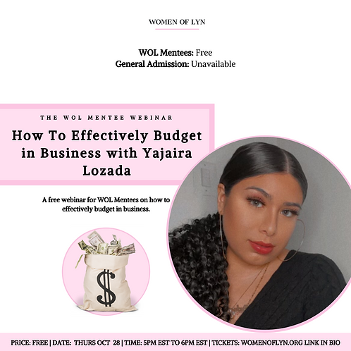 How To Budget Effectively in Business with Yajaira Lozada