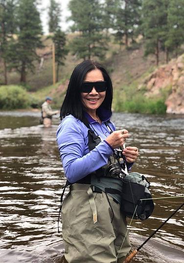 Jubie (Ahn) Muchow fly fishing