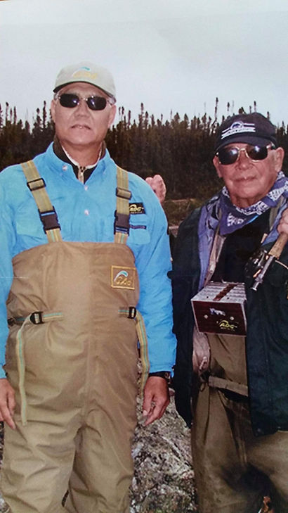 David Golden Ahn and Joe Humphreys fishing