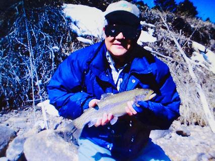 David Ahn with fish - fly fishing