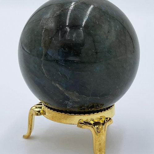 ラブラドライトー人間関係を良好に / 宇宙とつながる瞑想のお供に / スピリチュアルな活動に最適 / インテリアデザイン向け球体