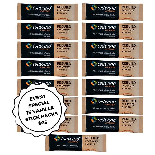 15 x Single Serve Vanilla Stick Packs - Event special