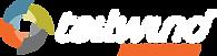 Tailwind-logo, white text, transparent b