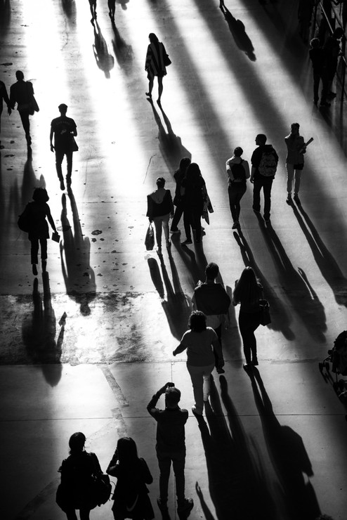 People at the Tate Modern, London. 2016
