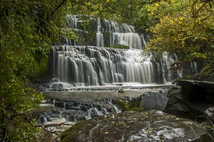 Parakaunui Falls. Catlins, New Zealand. 2014