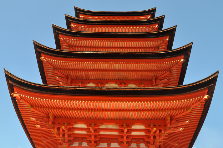 Kyoto temple. Japan. 2010
