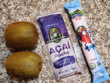 Breakfast Popsicles - Organic Strawberry Kiwi Acai.