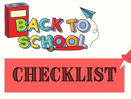 Back to School Checklist- FREE PRINTABLE