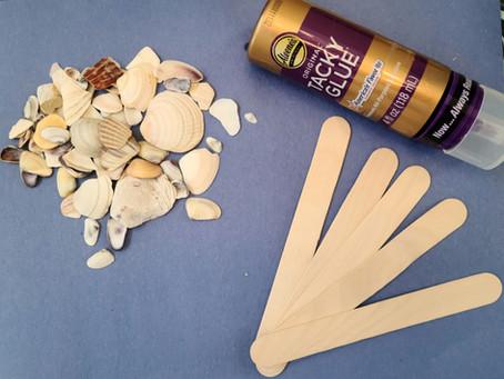 Summer Craft: Popsicle Stick Seashell Frames