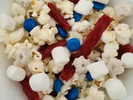 American Flag Snack Mix
