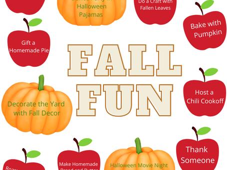 Fall Family Fun List