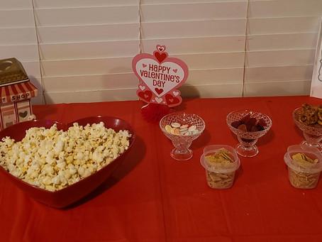 Valentine's Popcorn Bar