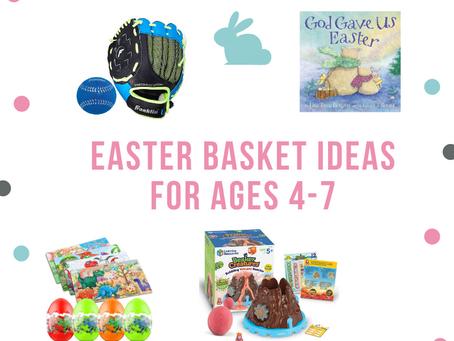 Easter Basket Ideas for Kids Ages 4-7