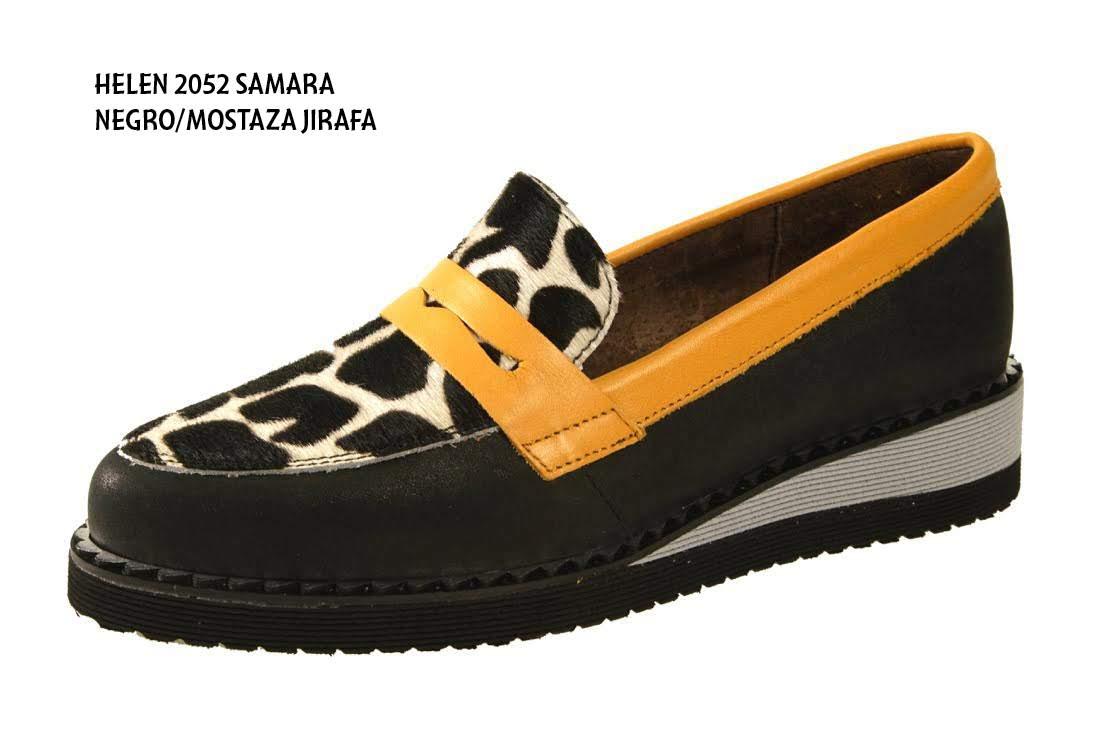 HELEN2052 SAMARA NEGRO/MOSTAZA JIRAFA