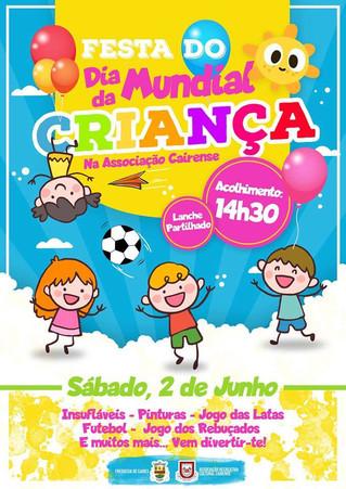 Dia Mundial da Criança - Protocolo de cooperação com a A.R.C.C.A.