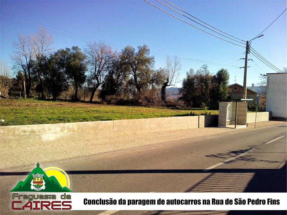 Conclusão das obras da paragem de autocarros na Rua de São Pedro Fins