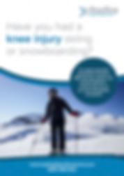 Snowboarding injury flyer forRHKU