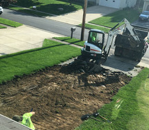 Excavation of old driveway