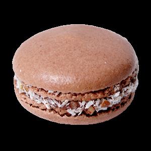 German Chocolate Macaron