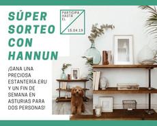 SORTEAMOS ESTA PRECIOSA ESTANTERÍA ERU DE HANNUN & UN FIN DE SEMANA EN ASTURIAS PARA 2 ♥