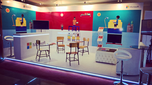 Microsoft Education stand build
