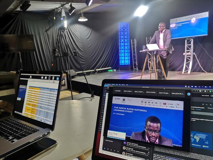 In studio setup