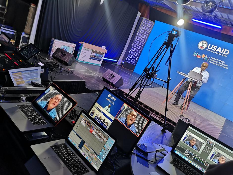 BTS shoot of tech setup
