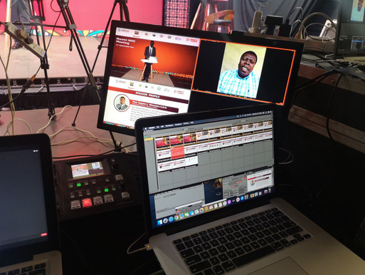 Live feed of in studio virtual session