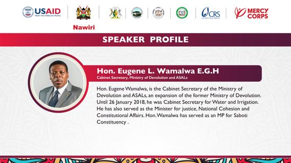 CS. Eugene Wamalwa profile
